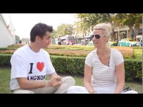 German Tourist interview in Bangkok -