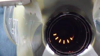 RUSSIA AERO L-39 ALBATROS RC MODEL JET LOOK INSIDE A STARTING TURBINE