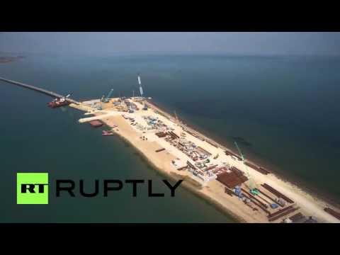 Russia: Drone captures over 1,000-metre bridge to Crimean peninsula