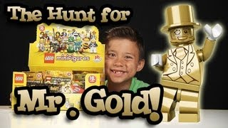 The Hunt for MR. GOLD! EvanTubeHD LEGO Series 10 Minifigure Unboxing - PART 1