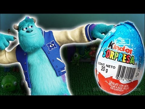 Monsters University Movie Toy - Kinder Suprise Egg - Sulley and Mike Wazowski