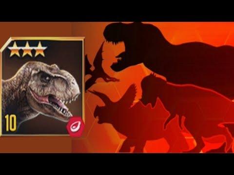 TYRANNOSAURUS REX Vs 6 OPPONENTS - Jurassic World The Game