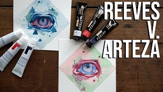 Reeves vs. Arteza - Cheap Gouache Comparison!