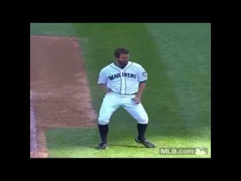 Seattle Mariners Pitcher Tom Wilhelmsen Wacky Dancing