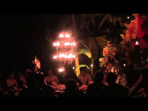 Kecak Fire and Trance Dance Ubud,Bali Island,Indonesia-12.31,2012<br />