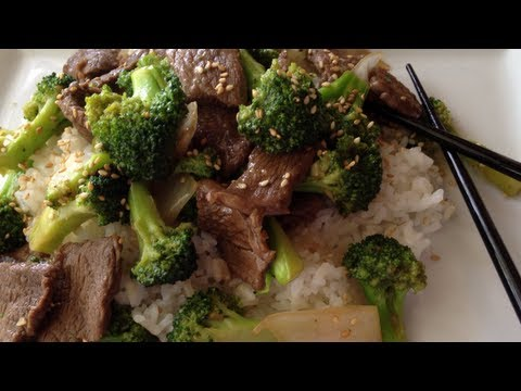 brocoli con carne de res comida china