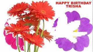Trisha - flowers - Happy Birthday