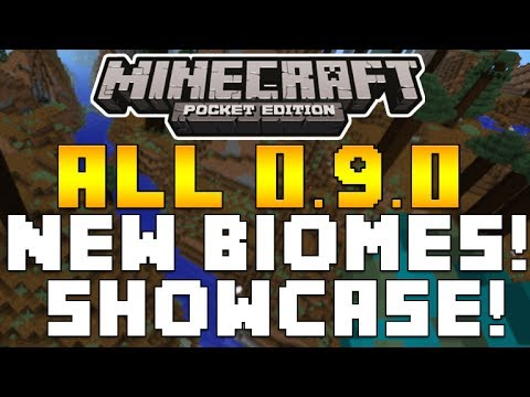 Minecraft Pocket Edition - 0.9.0 UPDATE ALL NEW BIOMES EXPLORED & EXPLAINED + MORE [0.9.0 MCPE]