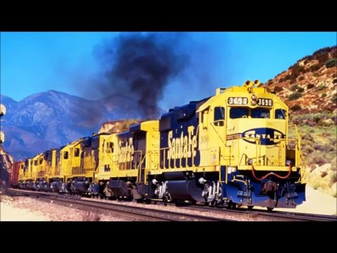 Diesel an Electric Locomotives - SlideShow With Relaxing Classical Music