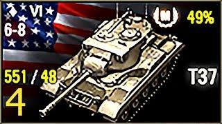 Мастер 3D-fan - T37 (v4, 1800 дамага + 2200 света, 1300 опыта), 6 уровень, США, ЛТ - Хайвей + ЛТ-14