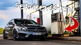 Mein erster Service! | Mercedes-AMG CLA 45 4 Matic SERVICEKOSTEN im Überblick