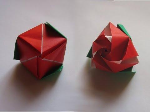 Модульная роза, куб