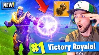 *NEW* THANOS GAMEPLAY in Fortnite: Battle Royale! (INFINITY GAUNTLET)