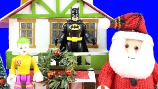 Imaginext Joker Tries To Ruin Christmas By Stealing Santa Claus Can Batman Save The Day