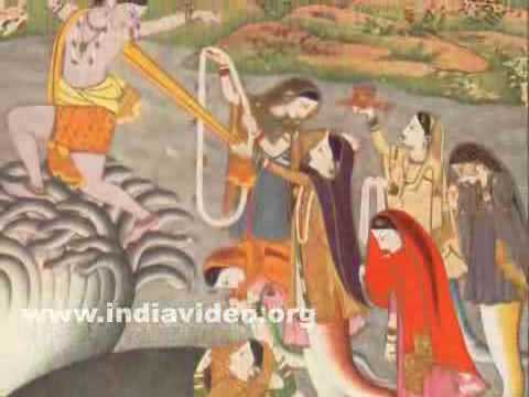 Krishna subduing the serpent Kaliya