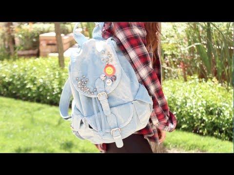 Easy Tumblr Diys Diy Super Easy Spiked Backpack
