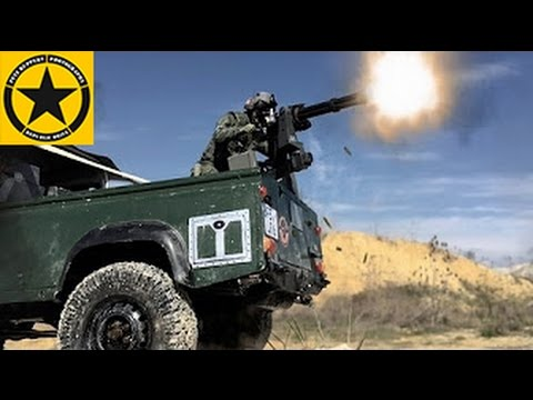GATLING Minigun on Landy DEFENDER RC! Afghanistan War Zone vs. Taliban