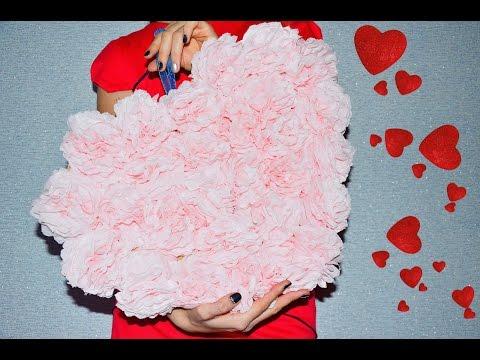 Как сделать объёмное сердце из салфеток своими руками 50