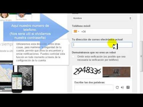 Como crear una cuenta de correo electronico Gmail 2014. MUY FACIL!!