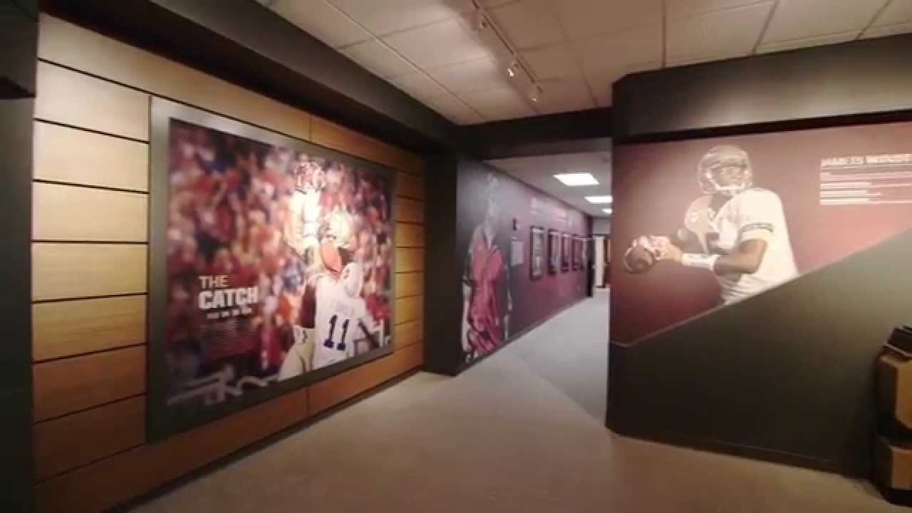 Florida state football facility hd youtube for Gator bedroom ideas
