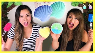 Bath Bomb Fizzy in Water with Surprise Toys | DIY with Princess ToysReview