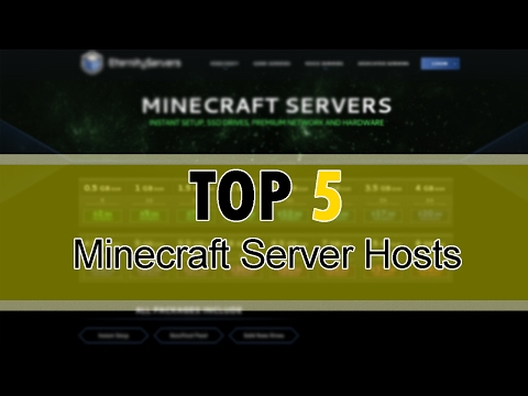 TOP 5 MINECRAFT SERVER HOSTING COMPANIES!! (Reliable vs Cheapest) [2017]