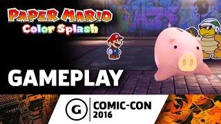 Paper Mario: Color Splash Gameplay at Comic-Con 2016