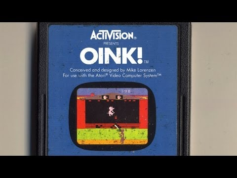 Classic Game Room - OINK! review for Atari 2600