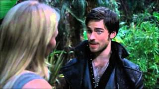 Once Upon A Time 3x05 Emma and Hook first kiss