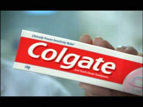 Colgate Sensitive Toothpaste advertisement