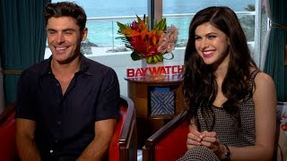Interview with Zac Efron and Alexandra Daddario for Baywatch