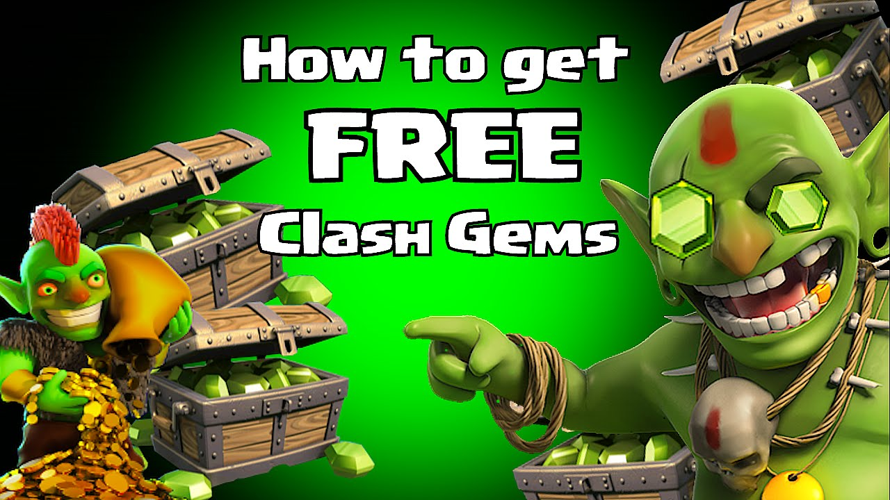 earn free gems for clash of clans