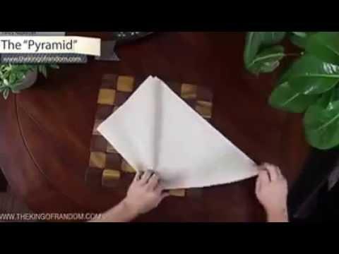 آموزش تا کردن 9 مدل دستمال سفره - شیک و مجلسی