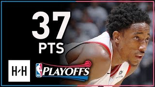 DeMar DeRozan Full Game 2 Highlights Raptors vs Wizards 2018 Playoffs - 37 Points, SICK Shooting!