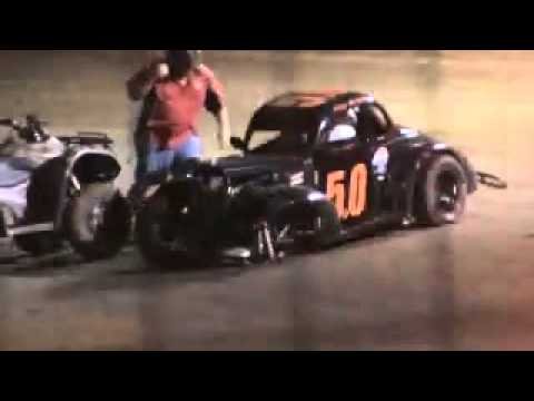 USA Speedway Sterlington, la Legends car flips