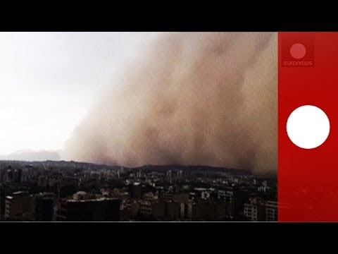 Iran sandstorm: Huge dust cloud engulfs Tehran in minutes