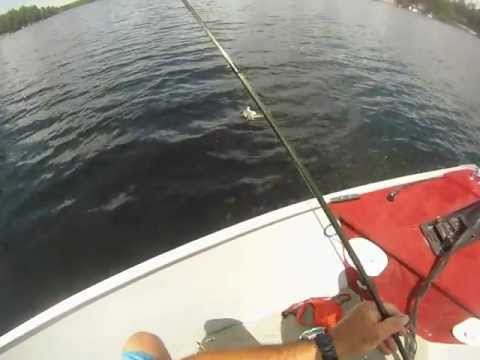 GOPR0123.MP4 TOP WATER BASS FISHING IN NEW HAMPSHIRE 5/31/2012