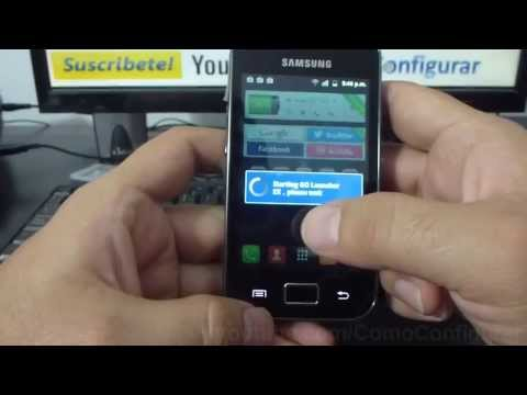 Como Cambiar El Theme O Fondo De Android Samsung Galaxy Ace S5830 Español Full Hd video