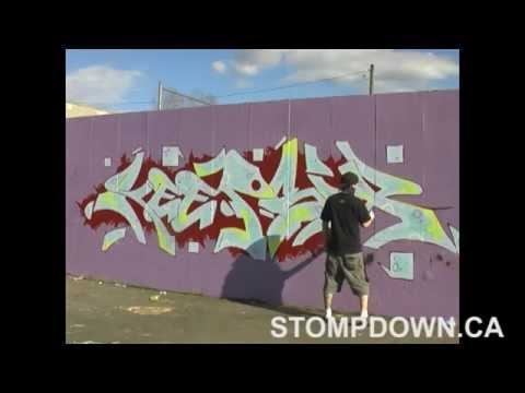 Teaching kids how to spray-paint graffiti
