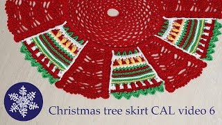 Christmas tree skirt crochet-along video 6
