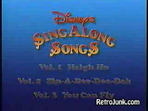 Disney Sing Along Songs Vhs Promo Disney Sing-along Songs 1990