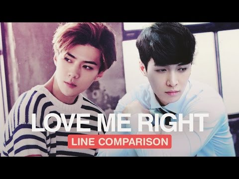 EXO - Love Me Right (Comparison)  「without Lay 」
