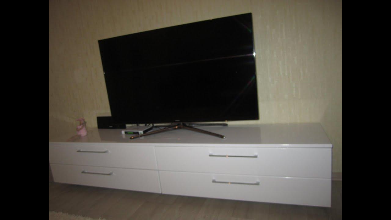 Современная тумба под телевизор своими руками 30