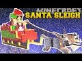 Minecraft: TRAPPED ON SANTA'S SLEIGH! - FIND THE BUTTON CHRIS...