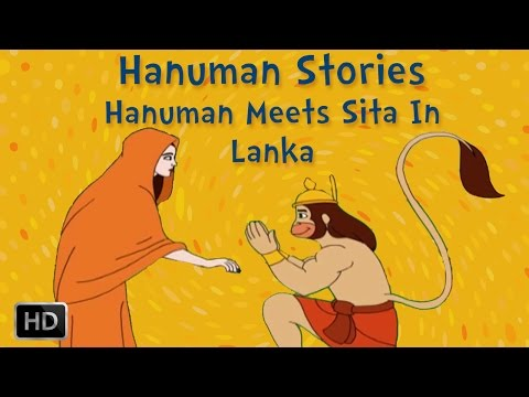 Hanuman Stories - Hanuman Meets Sita In Lanka - Animated Short Stories For Kids video