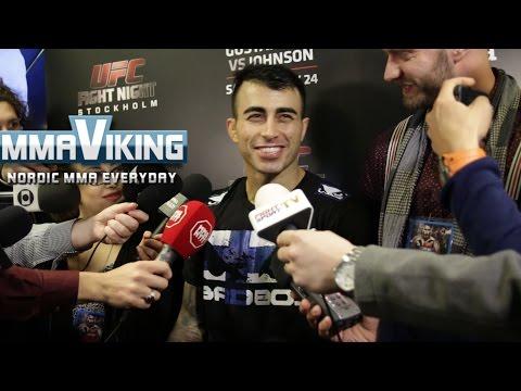 Makwan Amirkhani UFC Sweden 4 Media Scrum