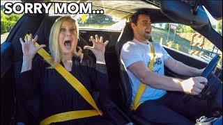 MOM REACTS TO FERRARI LAUNCH!