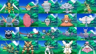 Alle Mega-Entwicklungen (All Mega-Evolutions) - Pokemon Omega Rubin & Alpha Saphir