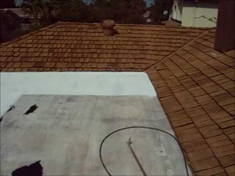 fibered aluminum roof coating application