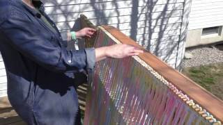 How to weave a blanket on the CraftSanity Blanket Loom